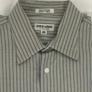 GIORGIO ARMANI Long Sleeve Striped Shirt Size L